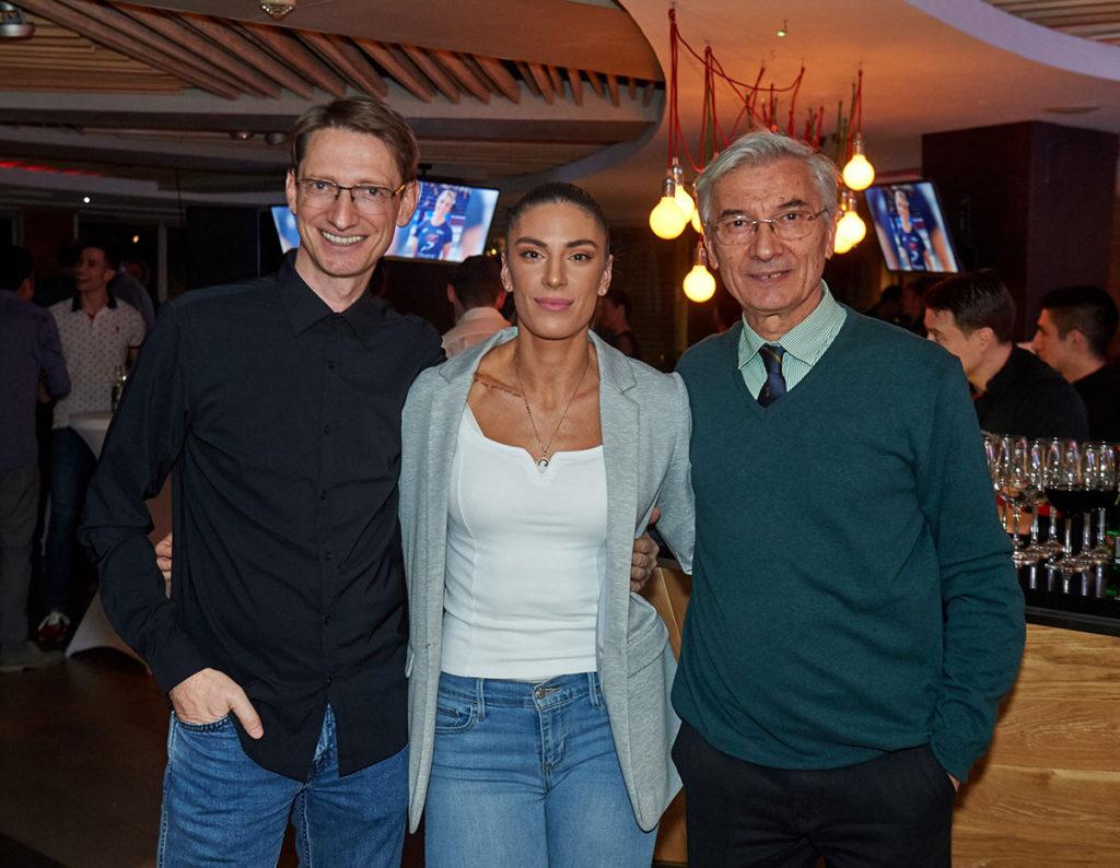 trener Goran Obradović, Ivana Španović i Stevan Kovačević